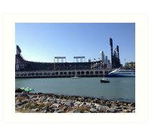 AT&T Park from other side of McCovey Cove Art Print