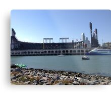 AT&T Park from other side of McCovey Cove Metal Print