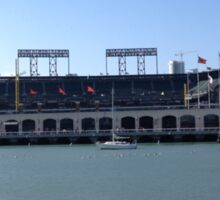 AT&T Park from other side of McCovey Cove Sticker