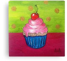 Cupcake Paint, Cherry Cupcake Canvas Print