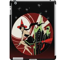 Halloween Witch Flying (vintage) iPad Case/Skin