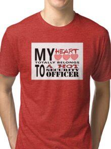 My Heart Belongs - Security Tri-blend T-Shirt