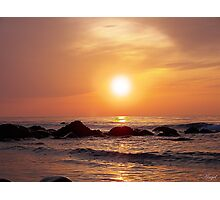 A Golden sunset in Wales Photographic Print