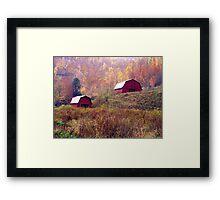 Twin Tobacco Barns Framed Print