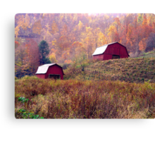 Twin Tobacco Barns Canvas Print