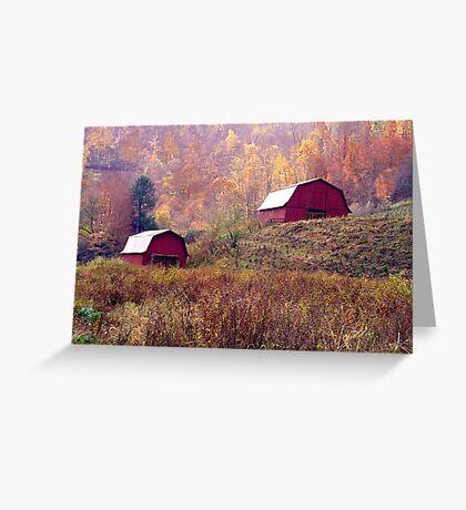 Twin Tobacco Barns Greeting Card