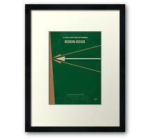 No237 My Robin Hood minimal movie poster Framed Print