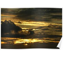 Sky streaked with gold Poster