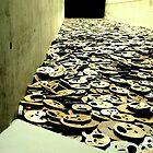 Fallen Leaves by Menashe Kadishman  by Jean-Luc Rollier