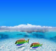 Gay Fishes in Polynesia by Digital Editor .