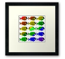Gay fishes Framed Print
