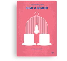 No241 My Dumb & Dumber minimal movie poster Canvas Print