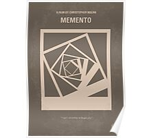 No243 My Memento minimal movie poster Poster