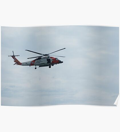 coast guard helicopter Poster