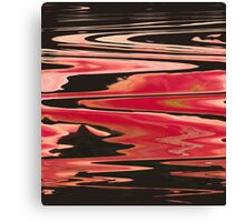 River of Fire Abstract Canvas Print