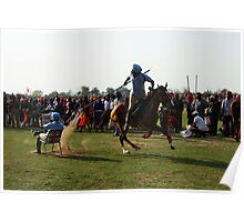 Tent Pegging Poster