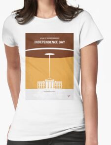 No249 My INDEPENDENCE DAY minimal movie poster Womens Fitted T-Shirt
