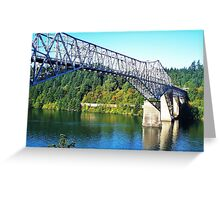 Bridge Of The Gods...Old Hwy 30, Cascade Locks, Ore. Greeting Card