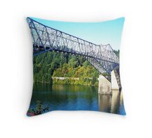 Bridge Of The Gods...Old Hwy 30, Cascade Locks, Ore. Throw Pillow