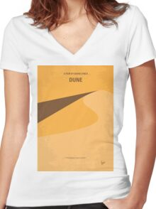 No251 My DUNE minimal movie poster Women's Fitted V-Neck T-Shirt