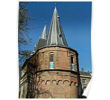 Medieval city gate Kampen Poster