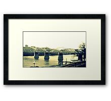 cincinnati bridge Framed Print