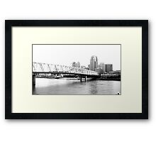 downtown cincinnati Framed Print