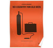 No253 My No Country for Old men minimal movie poster Poster