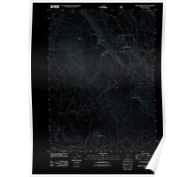USGS Topo Map Oregon Surveyor Mountain 20110715 TM Inverted Poster