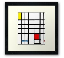 Abstract Squares Framed Print