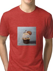 Chocolate Cupcake with a cookie Tri-blend T-Shirt
