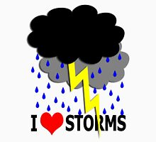 i love storms Unisex T-Shirt