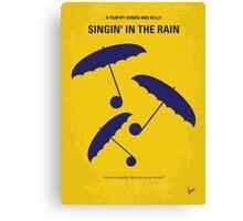 No254 My SINGIN IN THE RAIN minimal movie poster Canvas Print