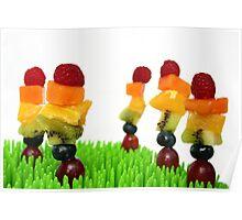 Fruity rainbow garden Poster