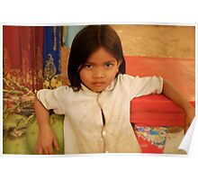 young girl, cambodia Poster