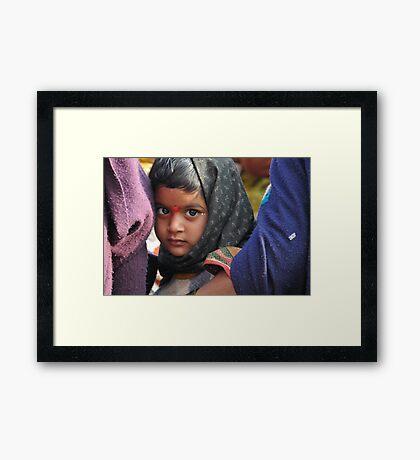 pilgrim, varanasi Framed Print