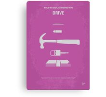 No258 My DRIVE minimal movie poster Canvas Print