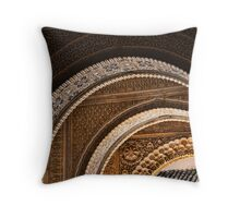 Moorish arches in the Alhambra Place in Granada Spain  Throw Pillow