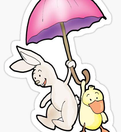 under my umbrella Sticker