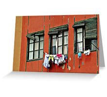 Three Windows Greeting Card