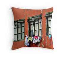 Three Windows Throw Pillow