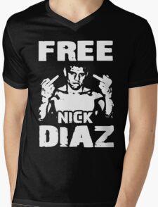Free Nick Diaz Mens V-Neck T-Shirt