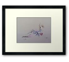 """Sara's Rose"" in Colour Pencil Framed Print"