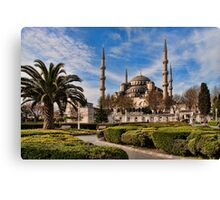 Sultan Ahmed or Blue Mosque in Istanbul Turkey Canvas Print