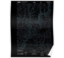 USGS Topo Map Oregon Keys Creek 20110727 TM Inverted Poster