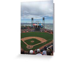 AT&T Park Greeting Card