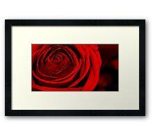 Deep Red Love Framed Print