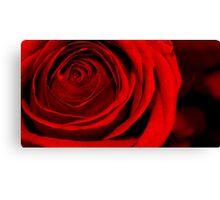 Deep Red Love Canvas Print