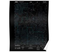 USGS Topo Map Oregon O'Brien 20110713 TM Inverted Poster