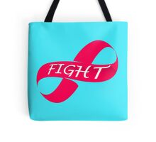 Infinity Fight Breast Cancer Tote Bag